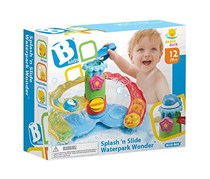 B Kids Splash'n Slide Waterpark Wonder Bath Toy, Blue/Red