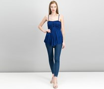 Free People Vacation Vibes Ruched Tube Top, Navy