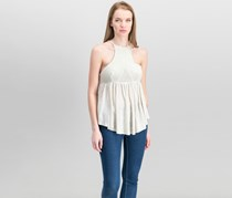 Women Road Trip Strappy Contrast Top, Taupe