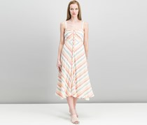 Free People Women's Striking Striped Midi Dress, Ivory Combo
