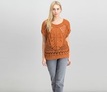 Women Diamond In The Rough Knit Sweater, Terracotta