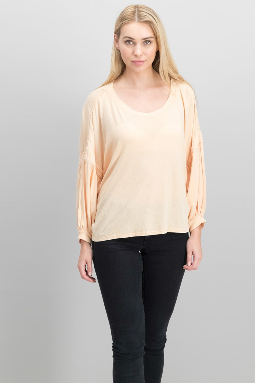 Sugar Rush Cotton Cropped Top, Sand