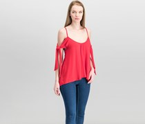 Free People Women's  Believe Me Cold Shoulder Top, Red
