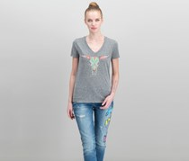 Carbon Copy Embroidered T-Shirt, Heather Grey