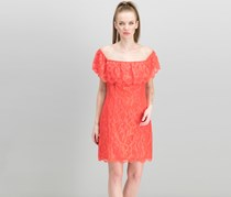 Guess Women's Francine Off-The-Shoulder Lace Dress, Red Lava