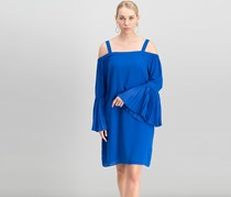 Women's Cold-Shoulder Shift Dress, Lazulite