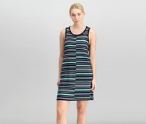Calvin Klein Women Striped Sweater Dress, Black