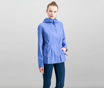 32 Degrees Cool Women's Waterproof Rain Jacket, Blue Melange