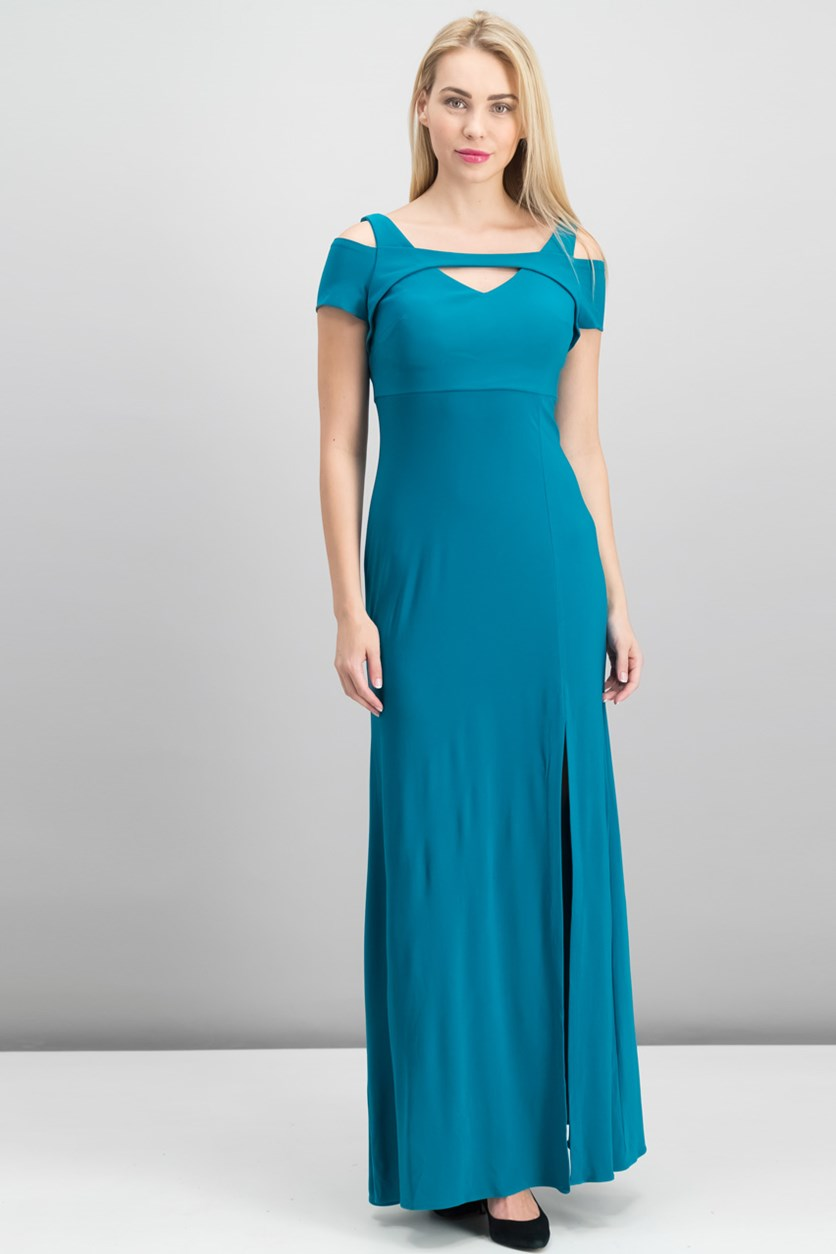 Women's Cold-Shoulder Keyhole Gown, Oasis