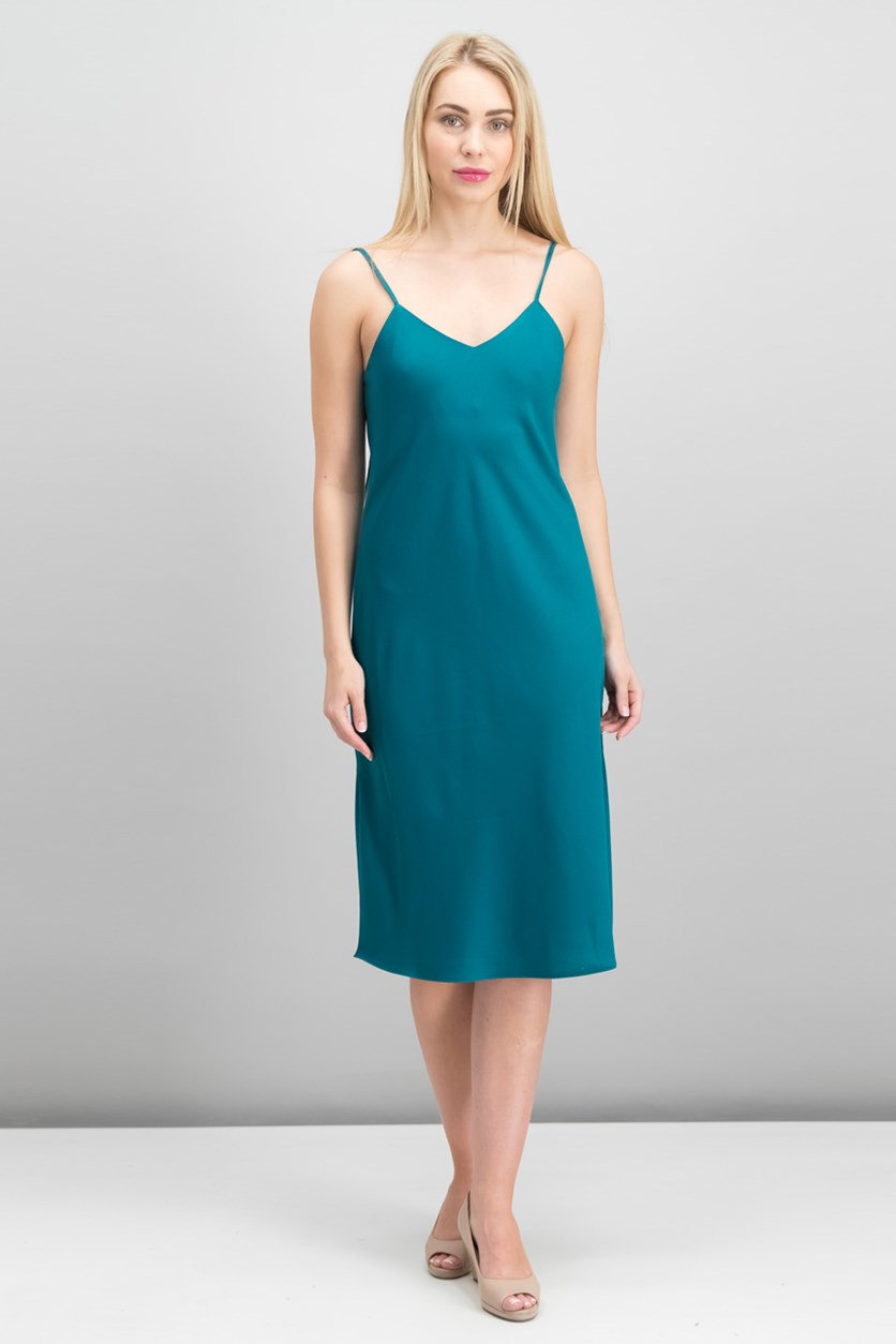 Sleeveless Dress, Dark Teal