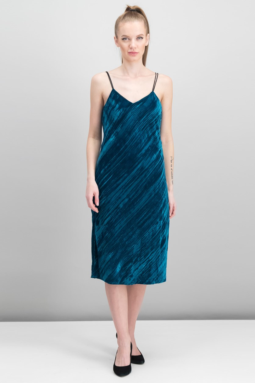 Women's Sleeveless Dress, Dark Teal
