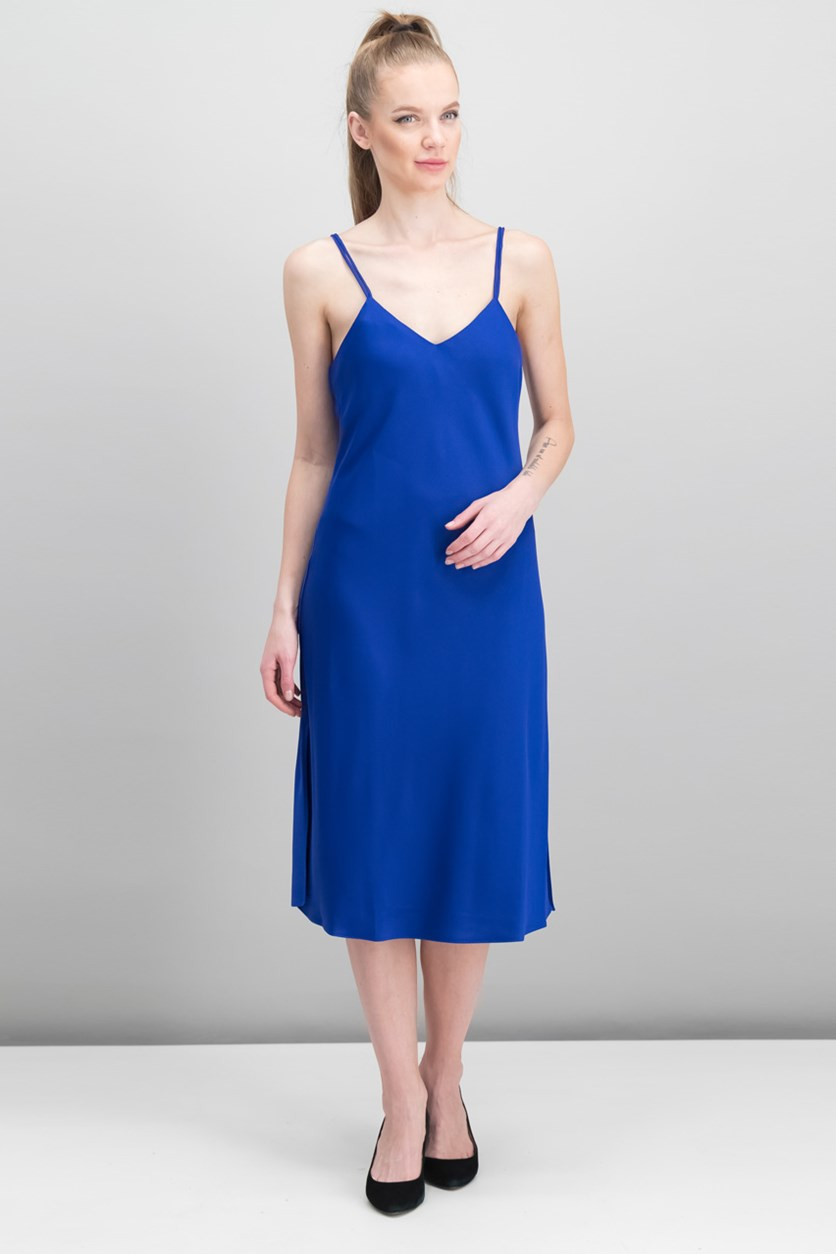 Women's V-neck Dress, Royal Blue