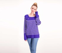 Ralph Lauren Striped Crewneck Sweater, Blue