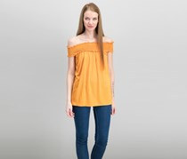 Max Studio Women's Off-The-Shoulder Tops, Orange