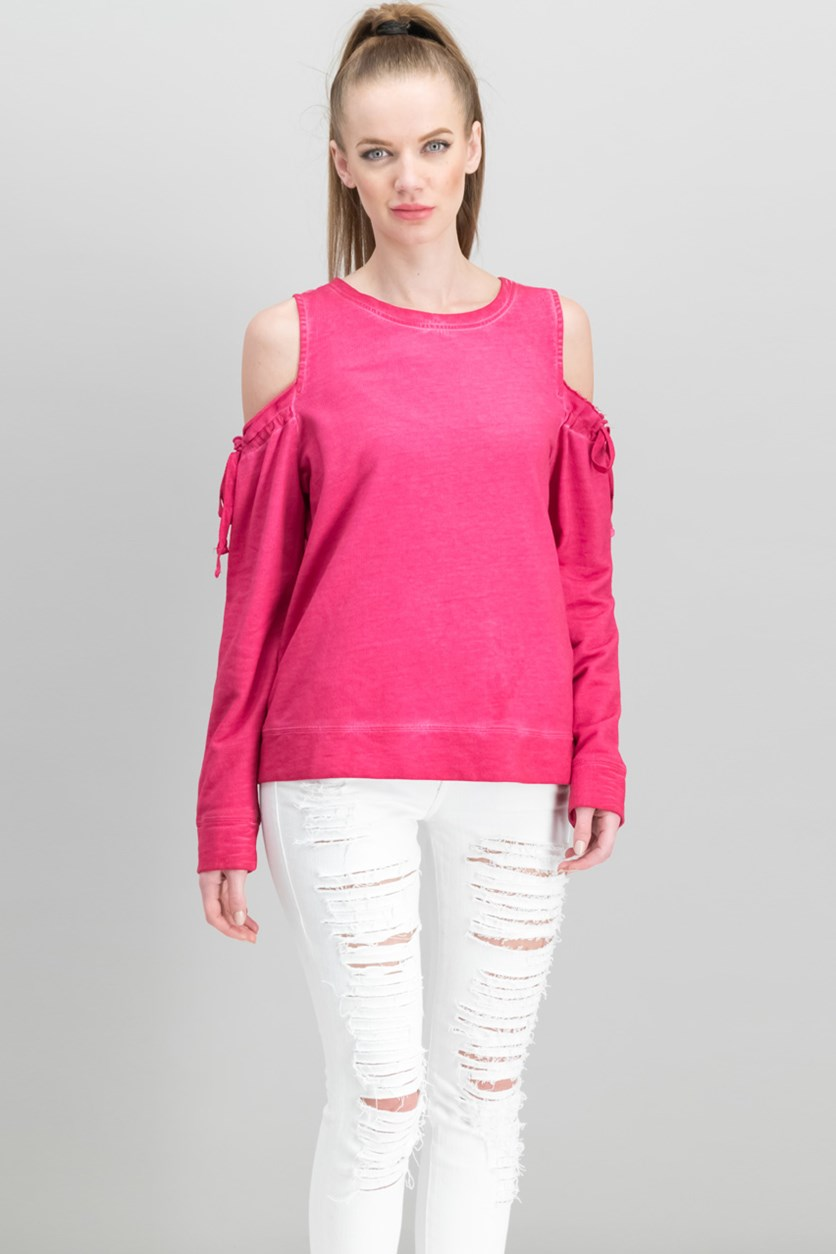 Women Parkside Cold-Shoulder Sweatshirt, Camellia