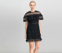Mare Mare Women Ruffled A-Line Dress, Black