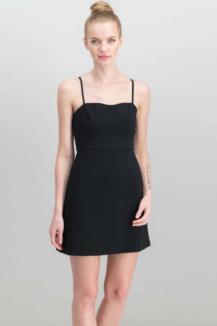 Whisper Light A-Line Dress, Black