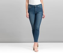 Nydj Ami Embroidered Skinny Jeans, Blue