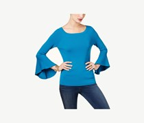 Inc Women's Ribbed Bell Sleeves Sweater, True Teal