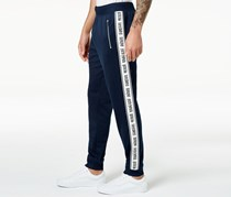 Inc International Concepts Men's Taped Knit Track Pants, Basic Navy