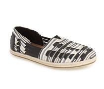 Toms Alpargata Huarache Slip-On Shoe, Black/White