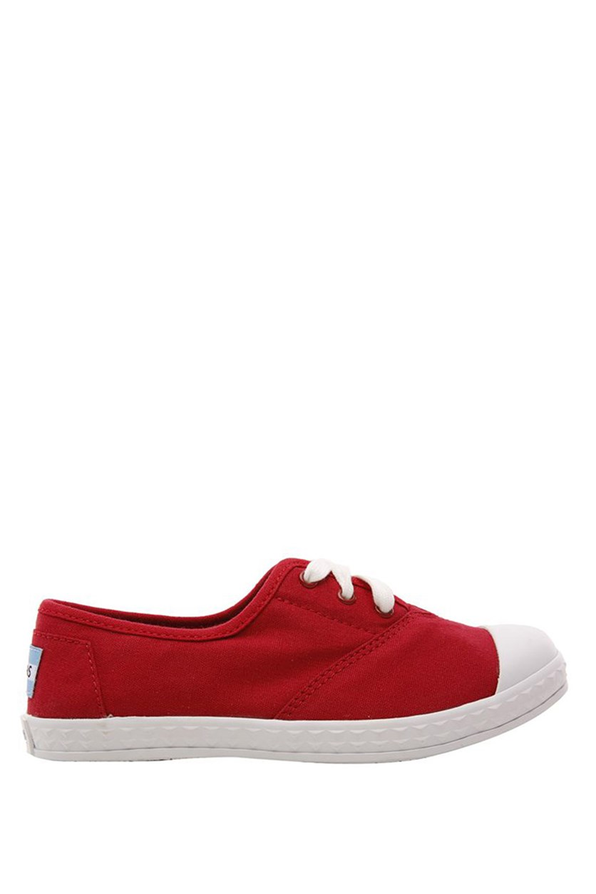 Youth Girls Zuma Sneaker, Red Canvas