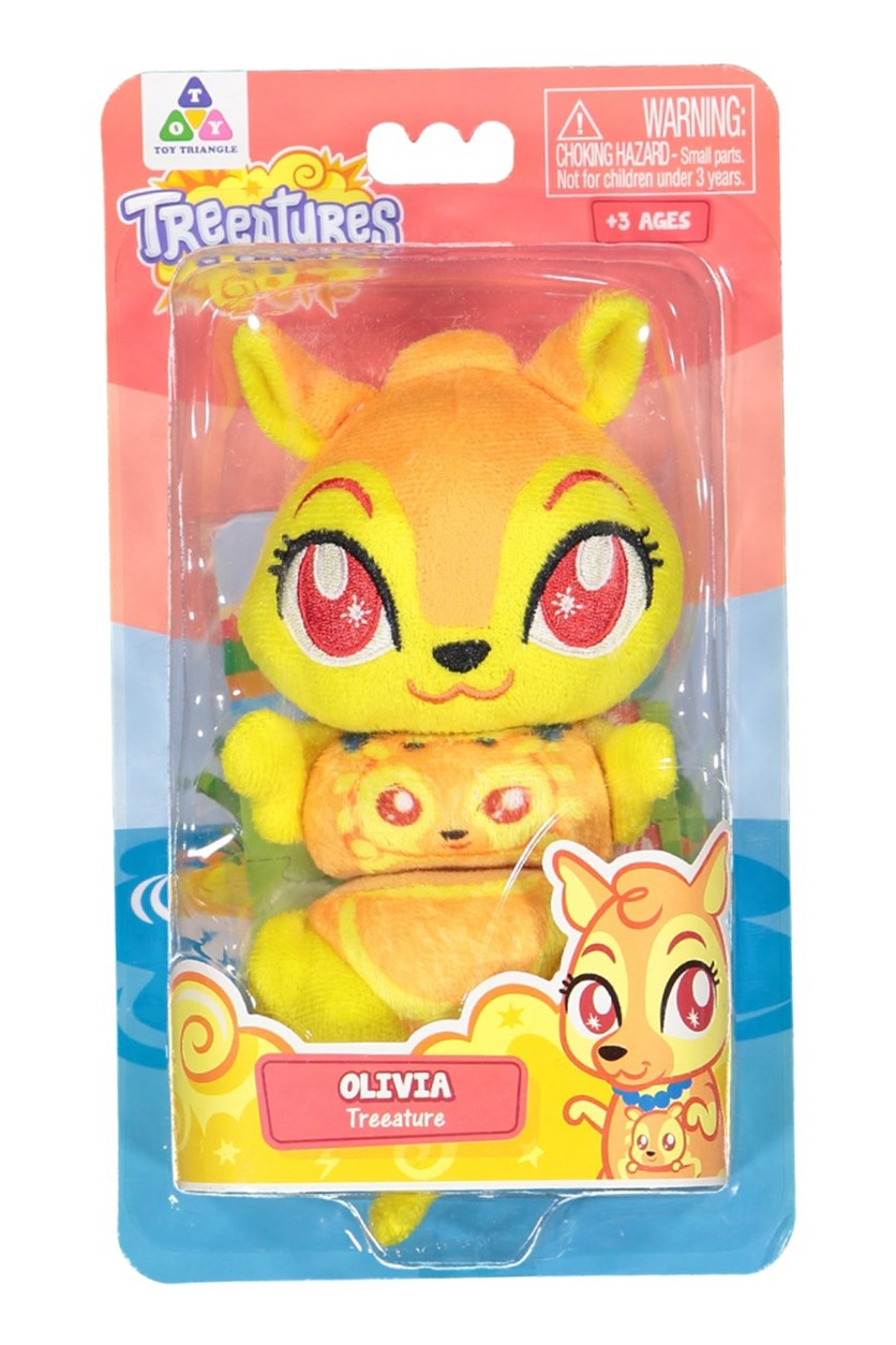 Treeatures Olivia Plush Toys, Orange/Yellow