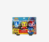 Toy Triangle Treeatures Triple Pack Stuff Toy- Gunjita, Zithembe, Jesebelle, Blue/Pink/Yellow