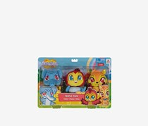 Toy Triangle Treeatures Triple Pack Stuff Toy- Habibo, Muniyo, Olivia, Blue/Yellow/Red