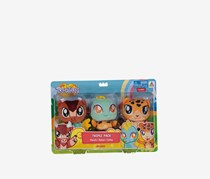 Toy Triangle Treeatures Triple Pack Stuff Toy- Manolo, Nalani, Zalika, Brown/Yellow/Mint