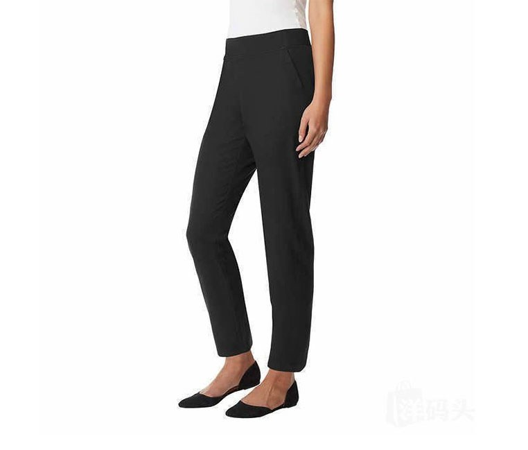 Womens Stretch Pull-on Pants, Black