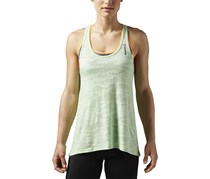 Reebok Women's One Series Burnout Tank, Light Green