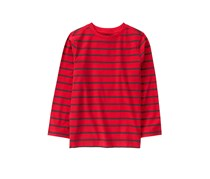 Crazy 8 Big Boys Striped Long Sleeve Shirt, Red/Taupe