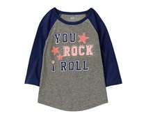 Crazy 8 Girl You Rock Tee, Heather Grey