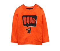 Crazy 8 Little Boys Graphic Print Long Sleeve Shirt, Orange