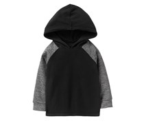 Crazy 8 Toddlers Microfleece Hoodie Sweaters, Black/Gray