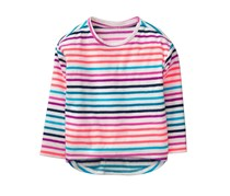Crazy 8 Toddlers Girls Stripe Sweater, White Combo