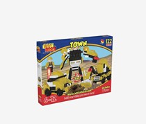 Best-Lock Robot 3-In-1 Building Bricks, Yellow/Black