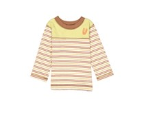 Cloud Mine Little Boys Striped Tee, Brown/Olive Combo
