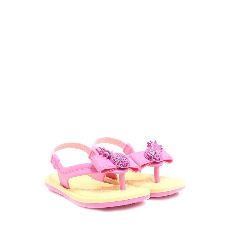 Toddler Girl's Tie Sandal, Yellow/Pink