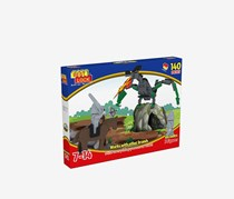 Best-Lock Dragon & Knights Construction Toy, Grey/Green