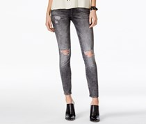 M1858 Kristen Ripped Grey Wash Skinny Jeans, Gray