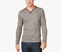 Alfani Men's Textured Space-Dyed Stretch Henley, Khaki Pants