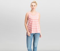 French Laundry Women's Stripe Tops, Coral