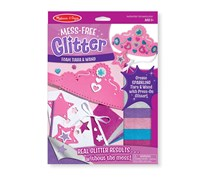 Melissa & Doug Mess-Free Glitter Foam Tiara and Wand Craft Kit With Sparkling Stickers