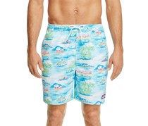 Vineyard Vines Beach Bungalow Chappy Swim Trunks, Aqua