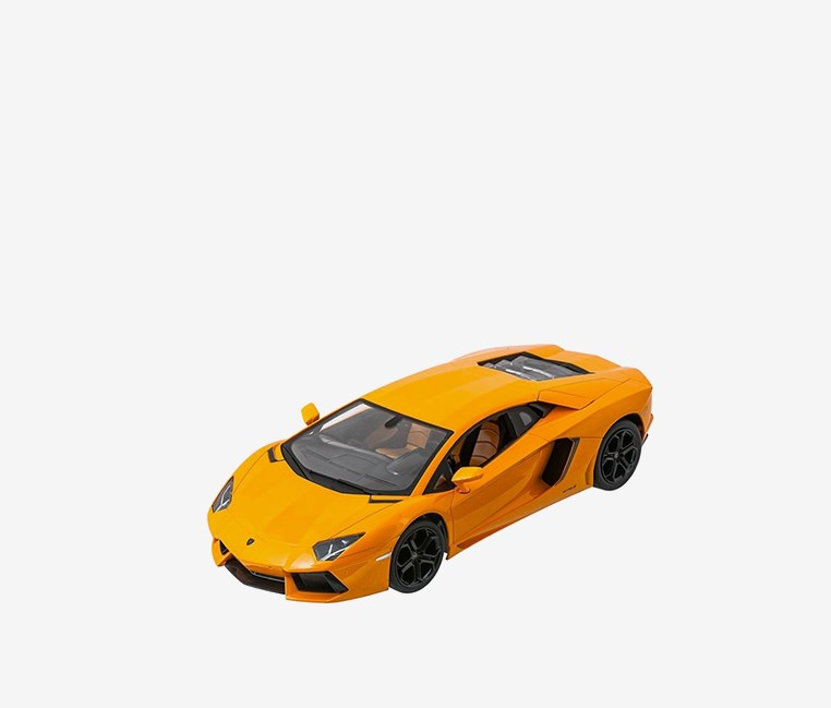 Lamborghini Aventador 1:14 Electric RC Car, Light Orange