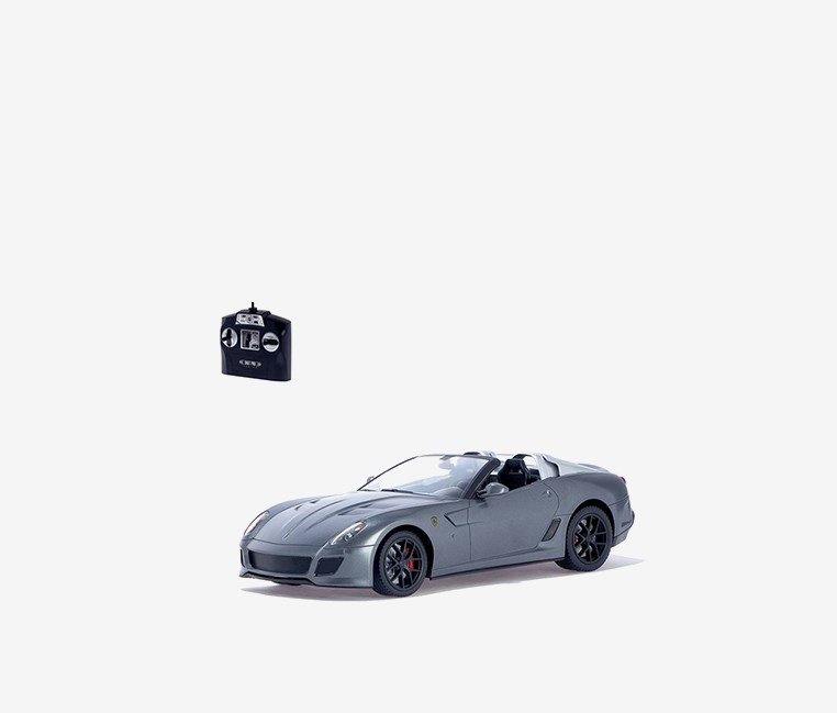 Ferrari 599 GTO Style Super Car 1:14 Scale Model Re-chargeable, Grey