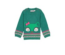 Boboli Toddler Girl's Knit Long Sleeve, Green