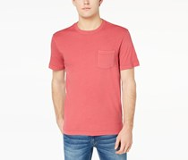 Club Room Men's Heathered Pocket T Shirt, Tomato